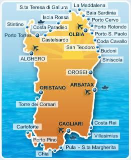 Cartina Sardegna Settentrionale.Sardegna